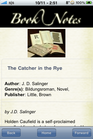 Book Notes - The Catcher in the Rye screenshot #3