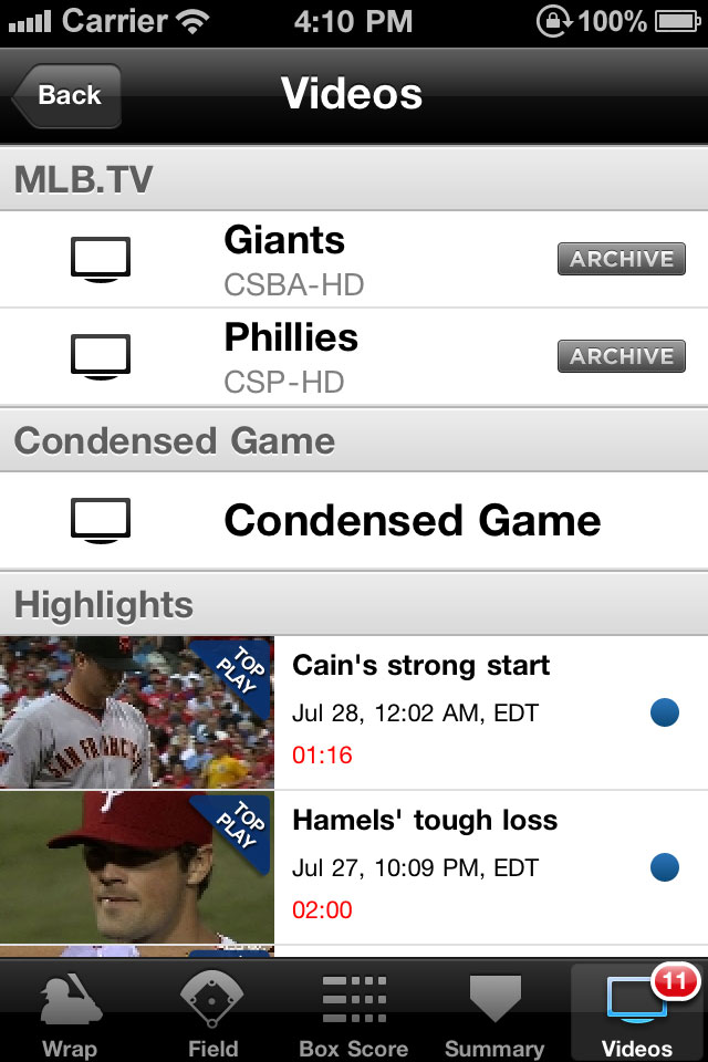 MLB.com At Bat 11 screenshot 5