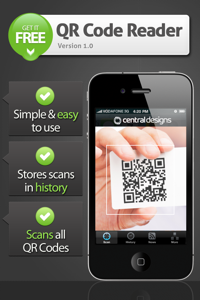 qr scanner iphone central designs qr scanner productivity utilities free app 791