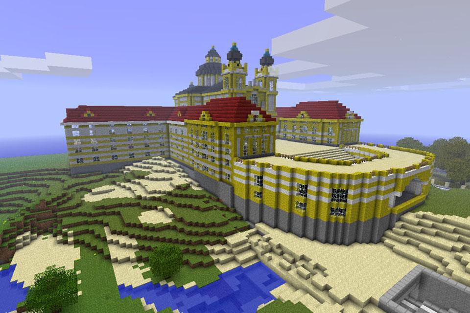 майнкрафт карта огромный дом