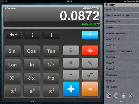 iCalculator HD for iPad screenshot 5