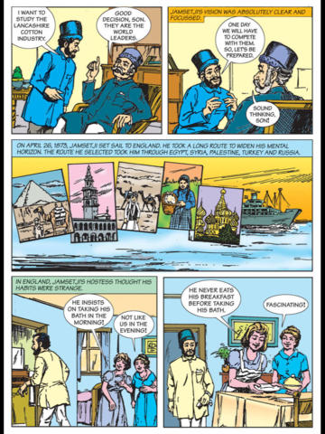 JAMSETJI TATA -  Amar Chitra Katha Comics - Biography Collection screenshot 7