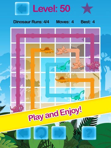 Jurassic Dino-Saur Hunter Flow Free - ADVERT FREE Puzzle Game screenshot 7