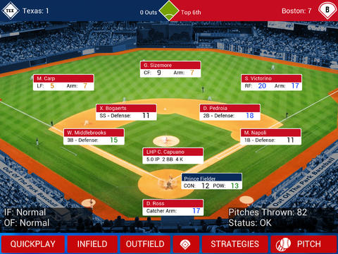 iOOTP Baseball 2014 Edition screenshot #1