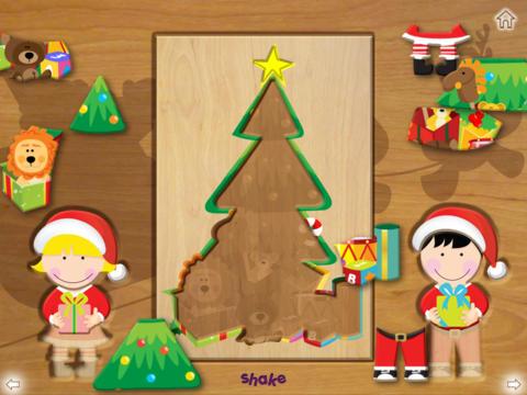 Wood Puzzle Christmas HD screenshot 4