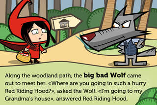 LITTLE RED RIDING HOOD. ITBOOK STORY screenshot 2