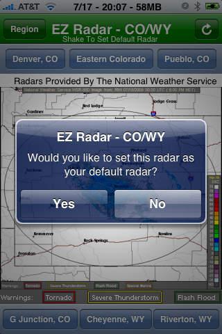 EZ Radar - CO/WY screenshot 2