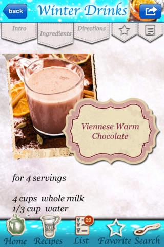 Christmas Recipes - Winter Drinks for the Holiday Season! screenshot 4
