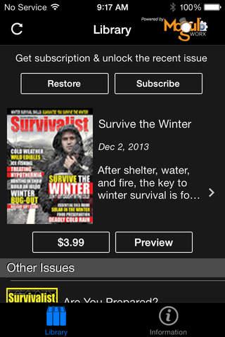 Survivalist Magazine - náhled