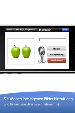Zahlen Lernen mit Foto Touch screenshot 4