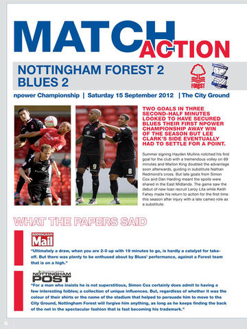 Blues News - The Official Matchday Programmes for Birmingham City fans! screenshot 4