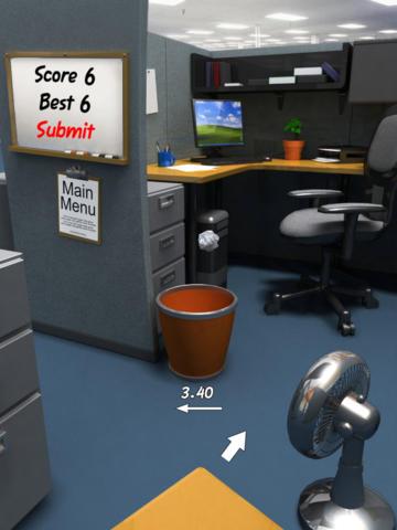 Paper Toss HD screenshot 2