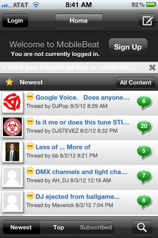 Mobile Beat Forums screenshot 2