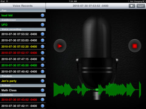 Sound Recorder Pro screenshot 1