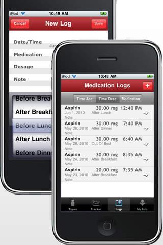 Med Tracker Lite - Drugs, Medications and Prescriptions screenshot 1