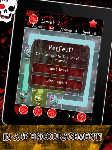 Dead Zombie Splash - Play Match 3 Zombie Puzzle Game with Free Flow & Skull Match screenshot 10