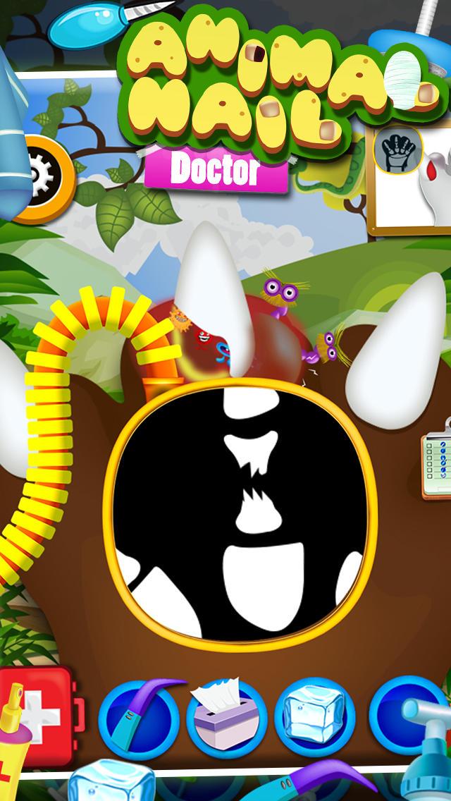 Animal Nail Doctor - Nail and hand surgery, kids free Game For fun screenshot 3