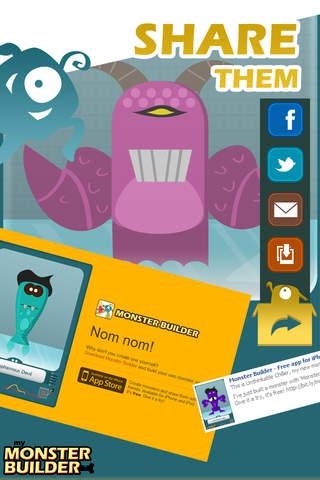 Monster Builder - Best Free Monsters Design Lab Game for Kids screenshot #4