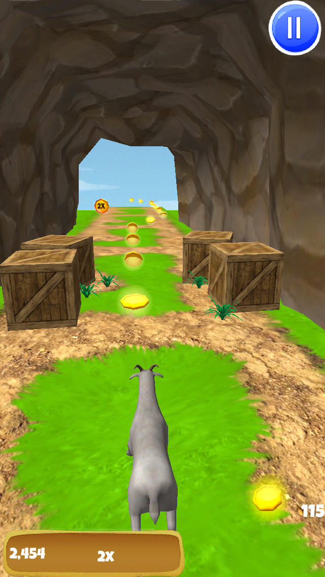 3D Goat Escape - Crazy Rampage F2P Game Edition - FREE screenshot 5