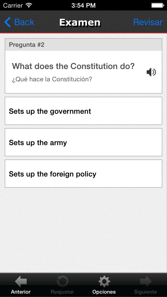 Examen de la Ciudadanía EEUU screenshot 3
