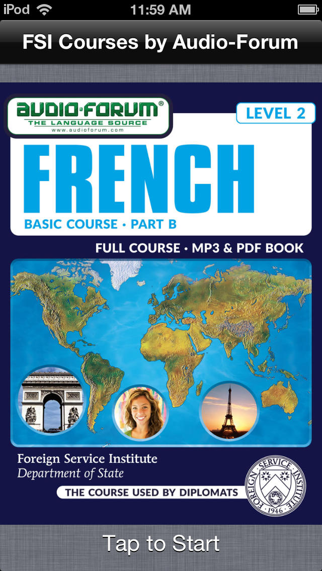 French Basic Course Part B (Level 2) - by Audio-Forum / Foreign Service Institute screenshot 1