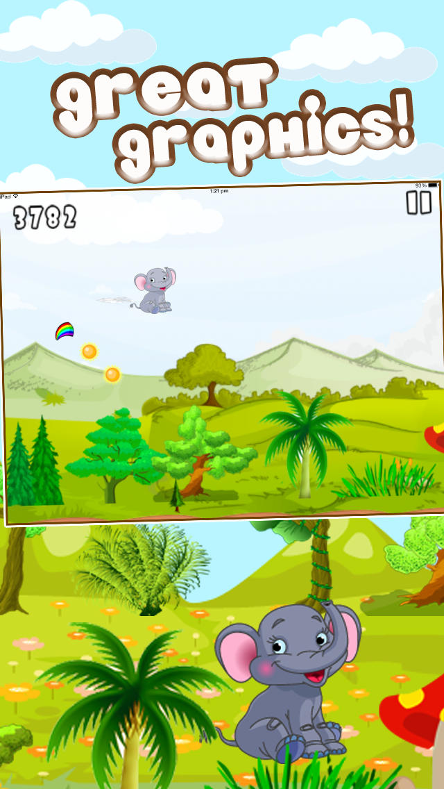 Baby Elephant Trampoline Adventure Pro screenshot 2