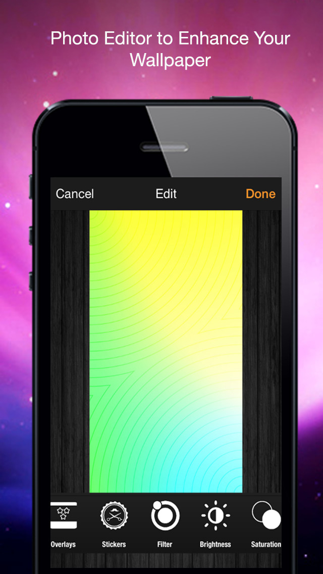 Let It Glow: Design Lock & Home Screen Theme Wallpaper for iOS 7 with Photo Editor screenshot 4
