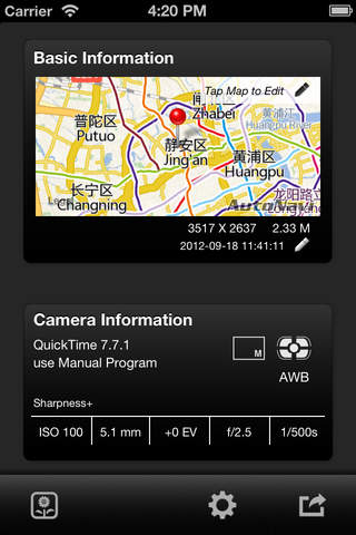 EXIF-fi (Photo GPS/EXIF viewer and editor) - náhled