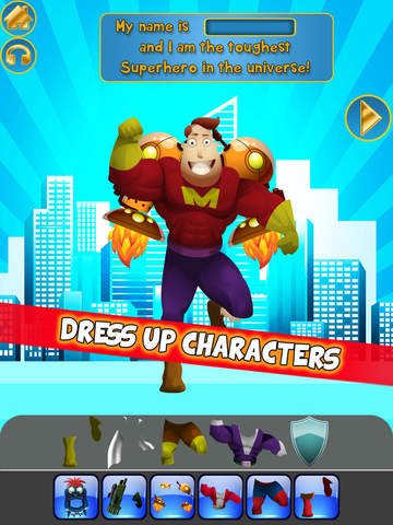 Create My Own Interactive Action Superheroes And Super Villains Story Books Advert Free Game screenshot 6