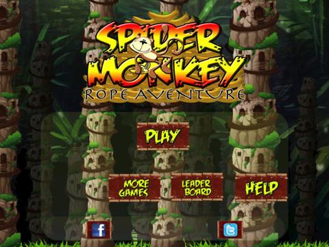 Spider Monkey Rope Aventure screenshot 7