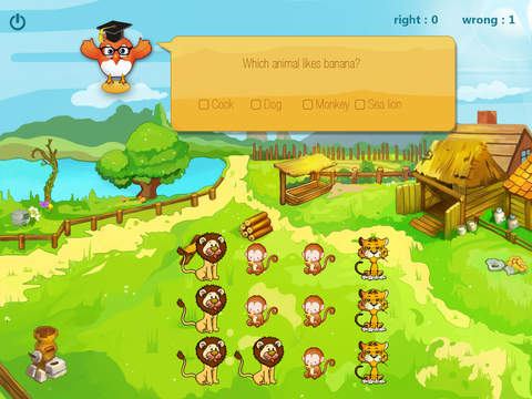 Animals 123 for count animals, primary maths, number game screenshot 2