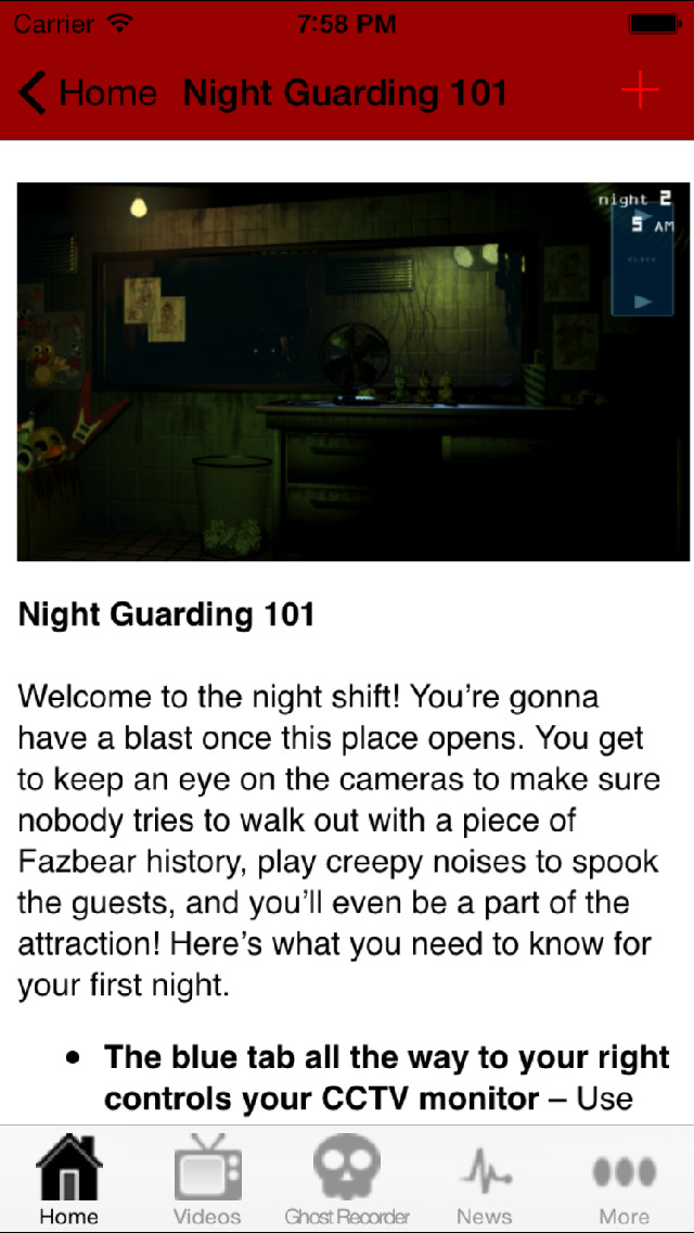 Guide and Tips for Five Nights at Freddy's screenshot 2