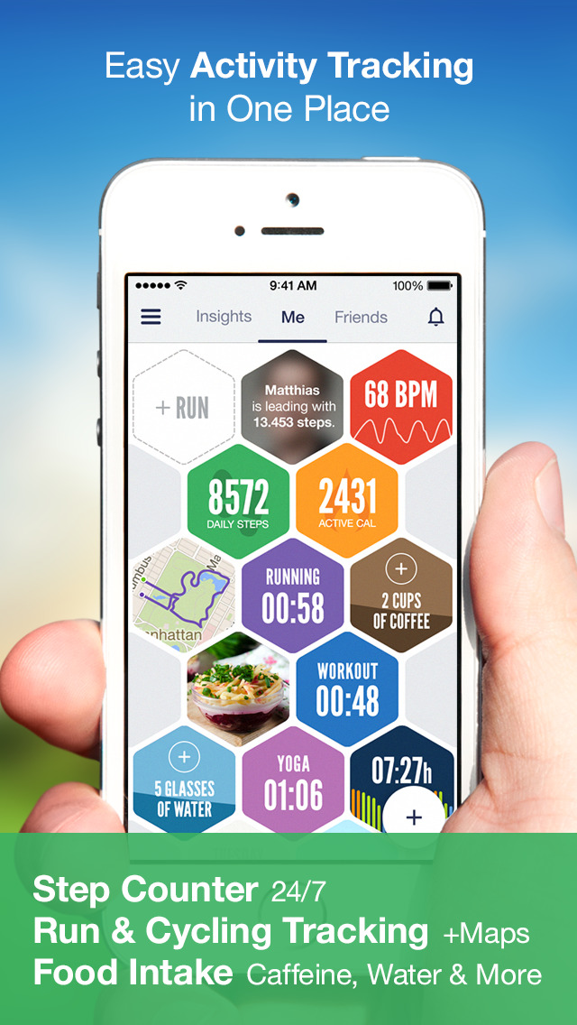 Argus: Calorie Counter & Step screenshot 1