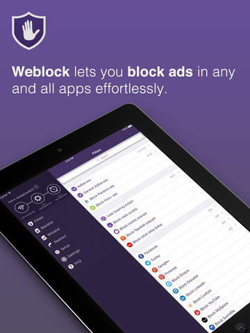 Weblock: adblock & proxy screenshot 6