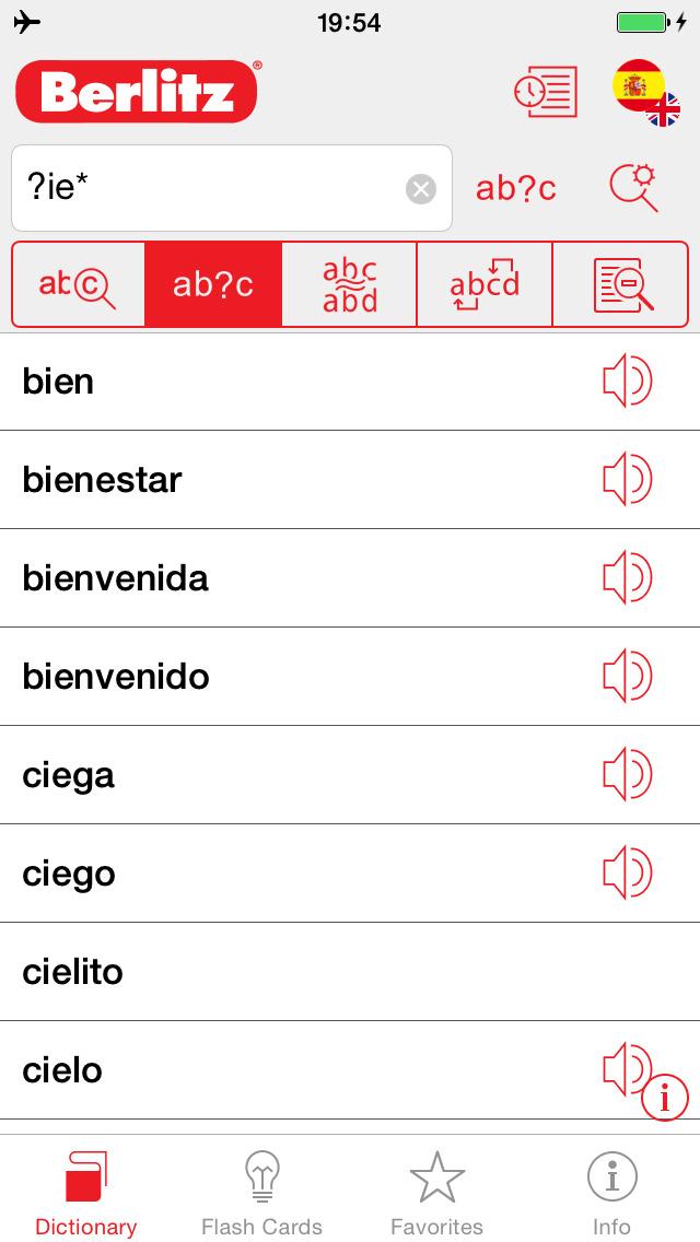 Spanish - English Berlitz Basic Talking Dictionary screenshot 3