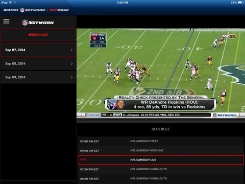 NFL Network screenshot 7