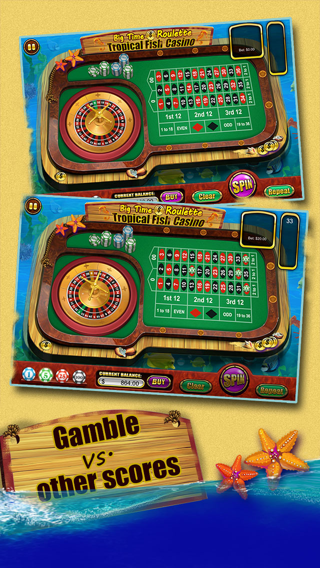 Roulette of Tropical Fish Casino 777 (Win Big) screenshot 3