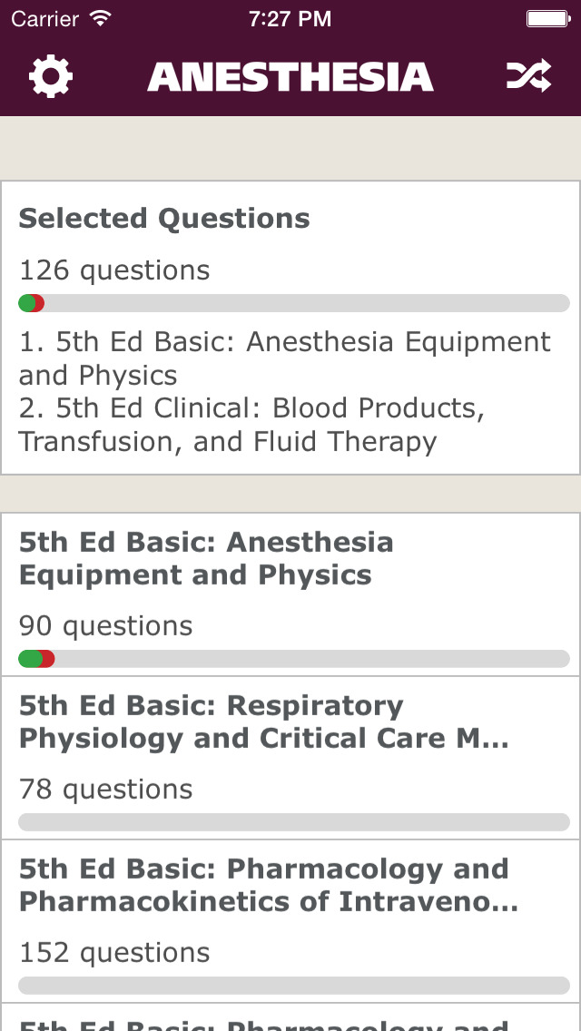 Anesthesia Comprehensive Review screenshot 1