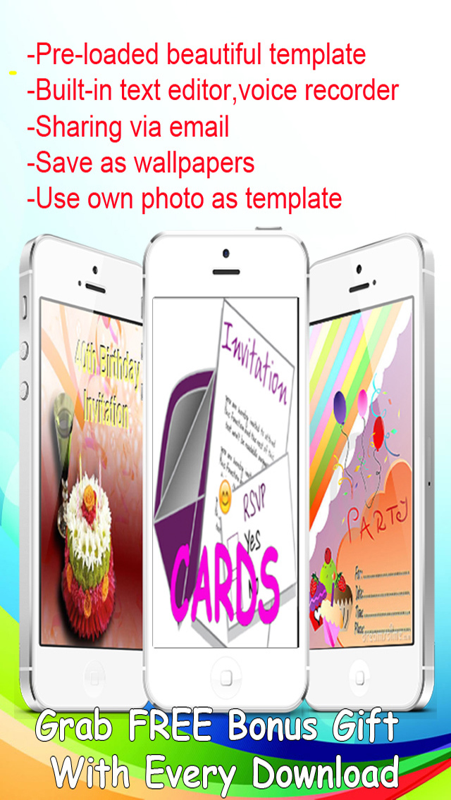 The Ultimate Invitation eCards - Customize and Send Invitation eCards with Invitation Text and Voice Messages screenshot 1