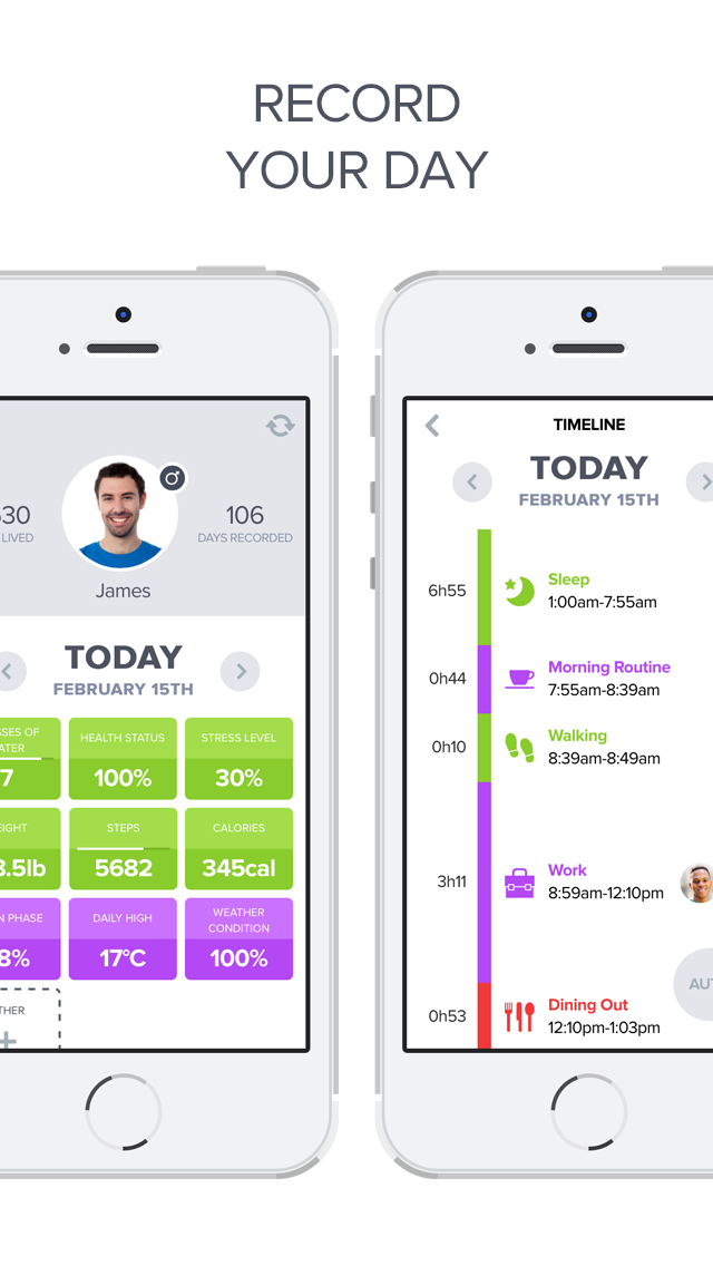 Optimized - Lifelogging and Quantified Self Improvement App screenshot 2