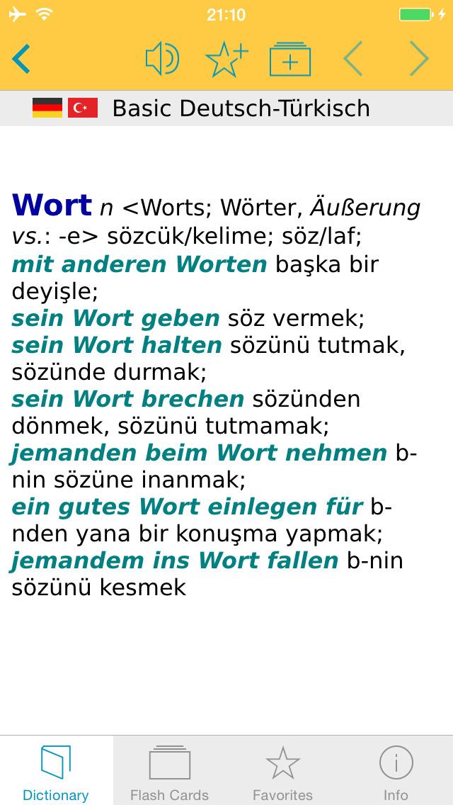 Turkish <-> German Dictionary Basic screenshot 5