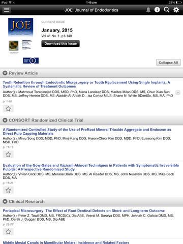 JOE: Journal of Endodontics screenshot 9