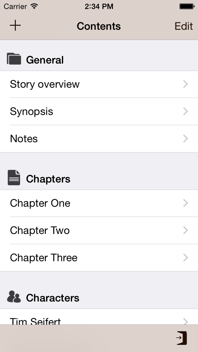 Writing App - Take Notes, Write your Novel or Short Story, be an Author and Writer screenshot 2