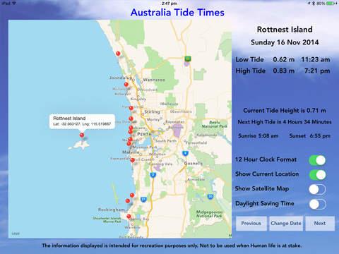Australia Tide Times - náhled