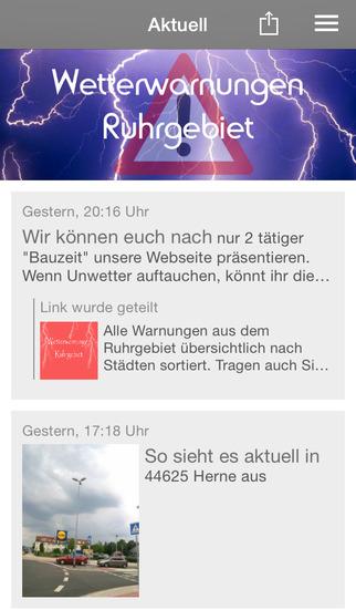 Wetterwarnungen Ruhrgebiet screenshot 1