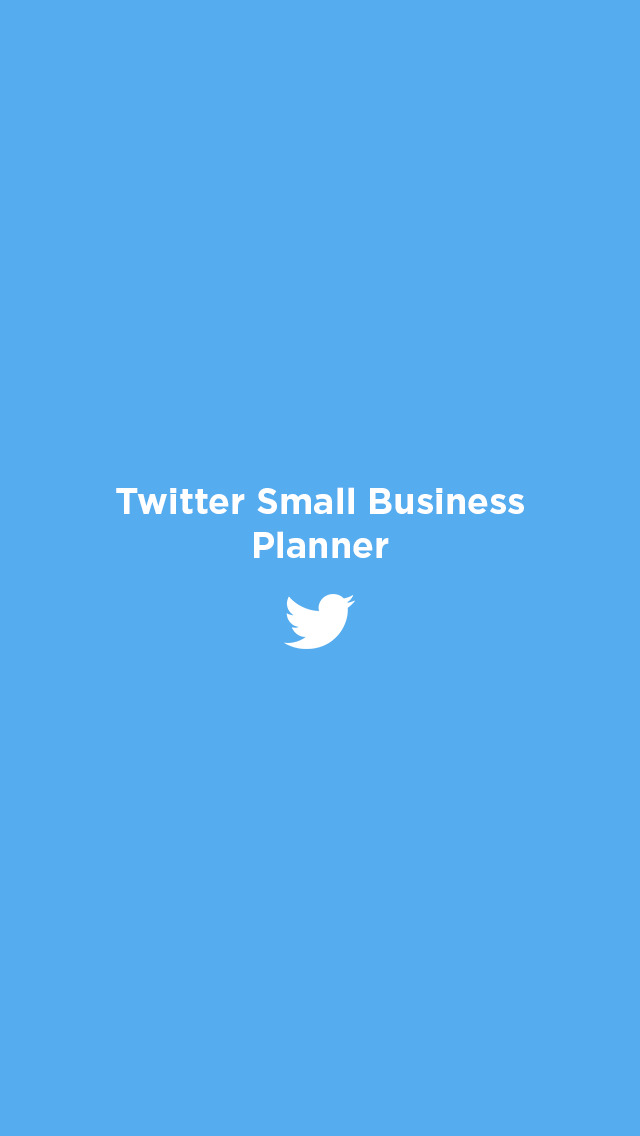 Twitter Small Business Planner screenshot 1