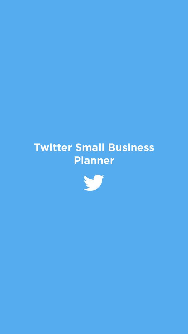 Twitter Small Business Planner screenshot 1