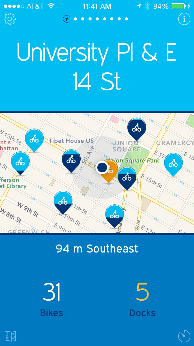 NYC Bikes — A One-Tap Citi Bike App screenshot 3