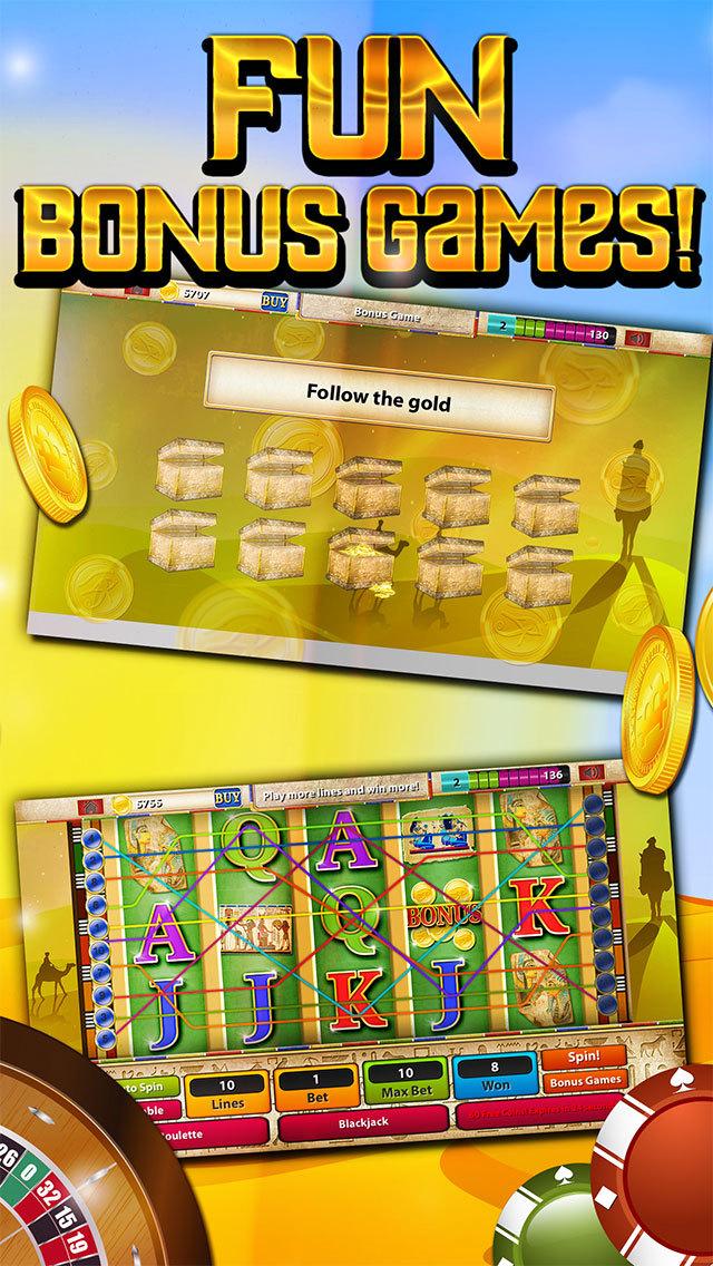 Slots - Pyramid's Way (Magic Journey of Gold Casino Dash) - FREE screenshot 3