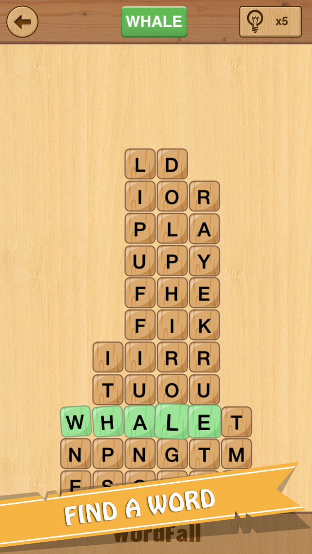 WordFall - Brain Training Game to Search Words screenshot 1